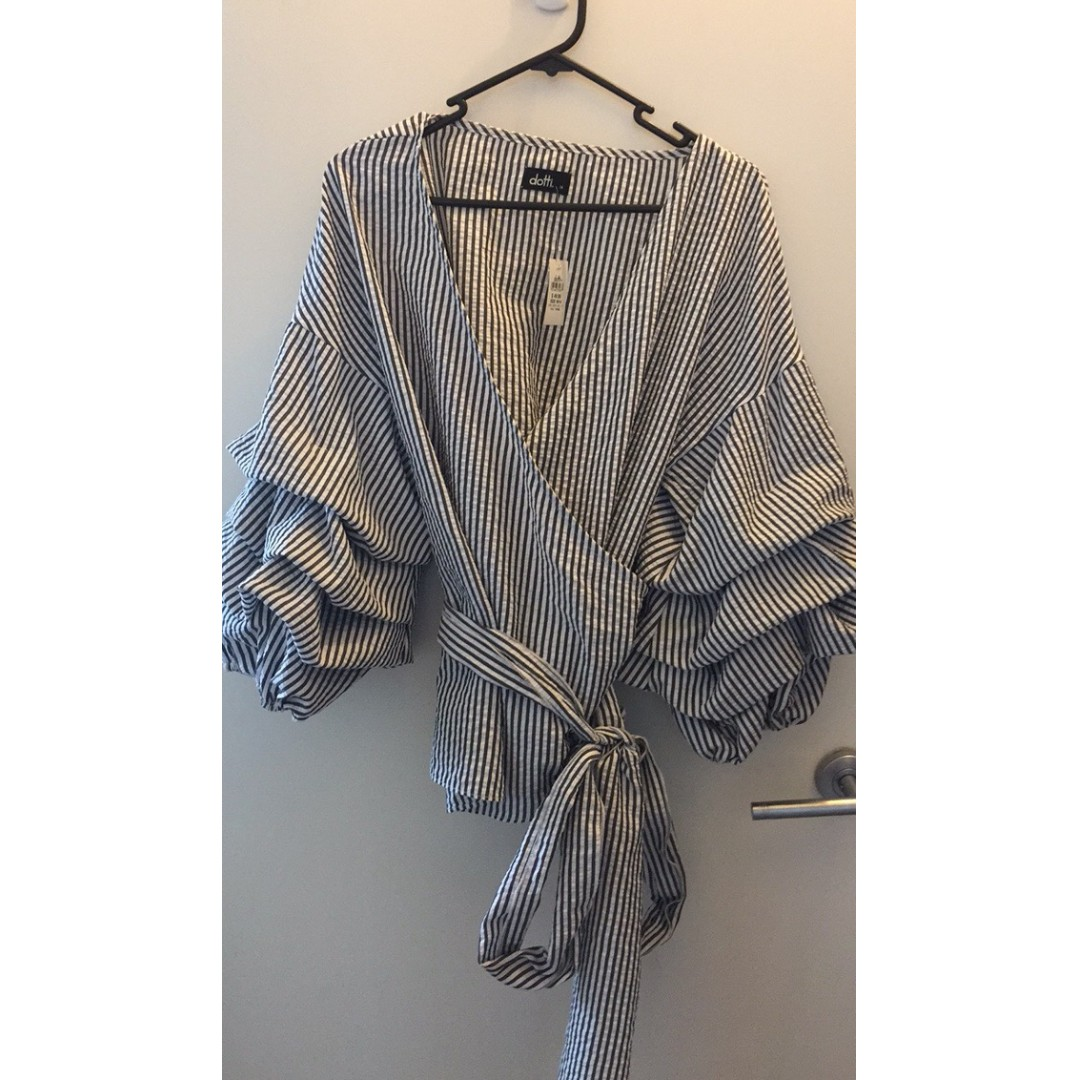 Brand New Gingham Wrap Top