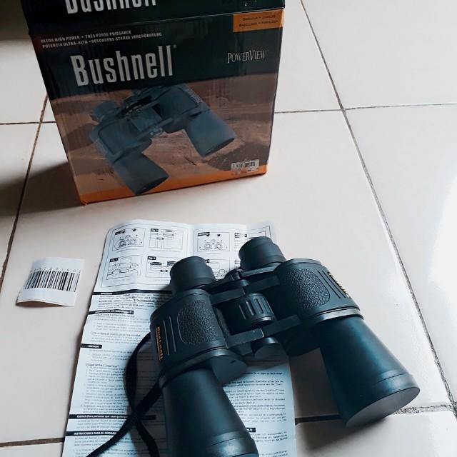 Bushnell Powerview 20x50 Binocular Teropong Dua Mata Lensa, Photography on Carousell