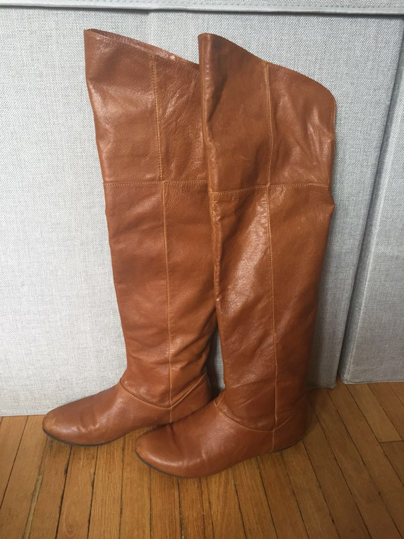 Chinese Laundry Leather Above Knee Boots Sz 7
