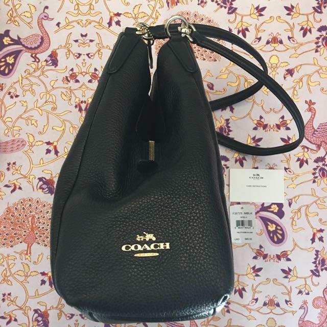 Coach black leather bag Phoebe