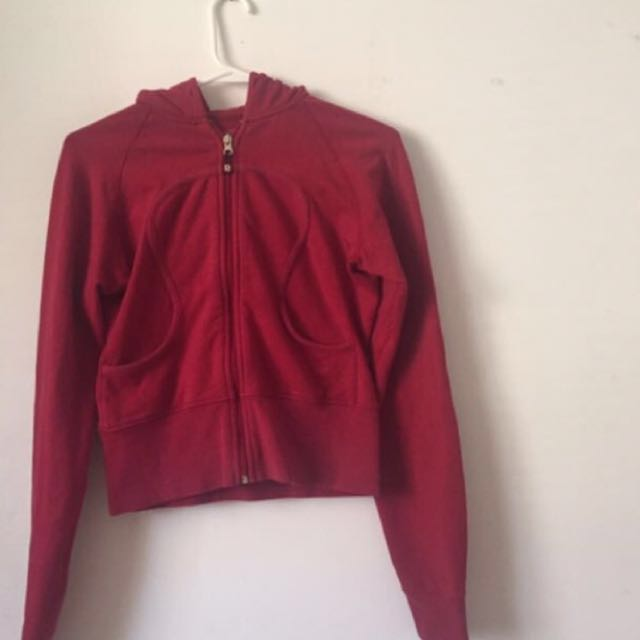 Deep Red Lululemon Zip Up Sweater
