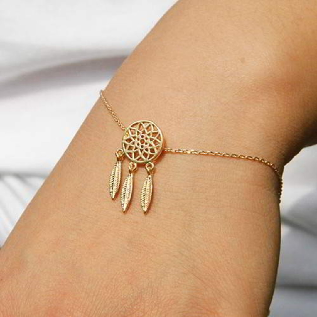 Dreamcatcher Simple Bracelet - Gold