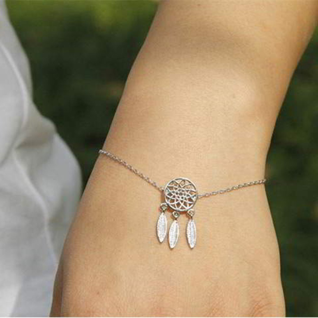 Dreamcatcher Simple Bracelet - Silver