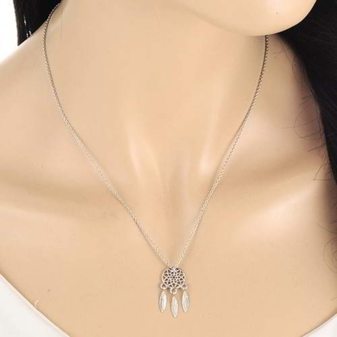 Dreamcatcher Simple Necklace - Silver