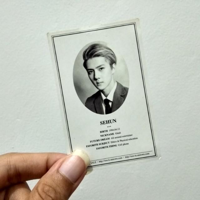 EXO Sehun XOXO Photocard PC