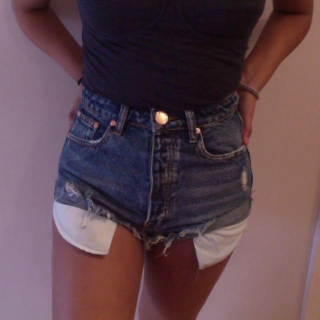 FASHIONNOVA High Waisted Distressed Shorts