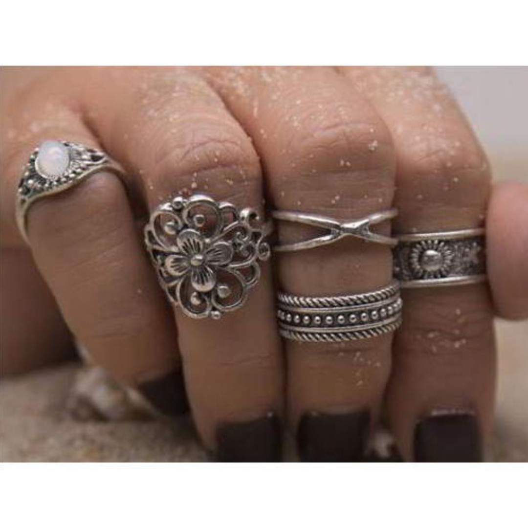 Flower Ring 5 pcs