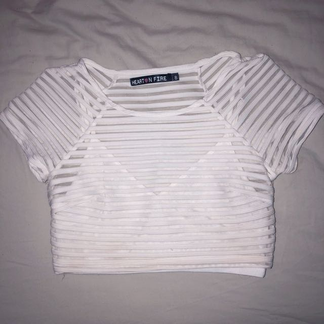 FREE POSTAGE White Crop Dolly Girl Festival