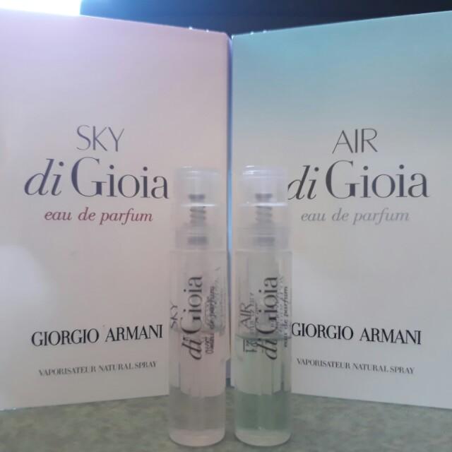 Giorgio Armani 天空寄情水女性淡香精(SKY)+空氣寄情水女性淡香精(AIR) 噴頭試管香(郵寄含運)