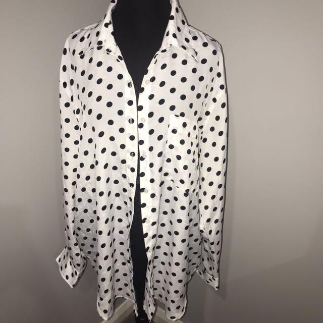 Glamorous polka dot shirt size 10