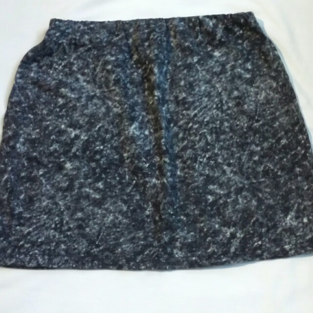 Gray Fitted Skirt