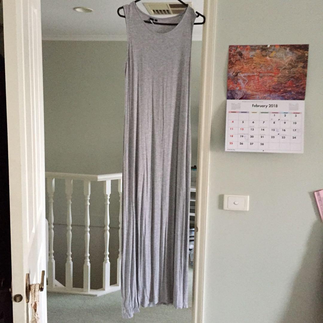 Grey split dress