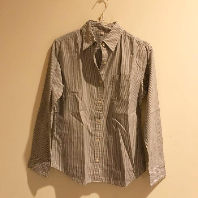 Grey stripes shirt