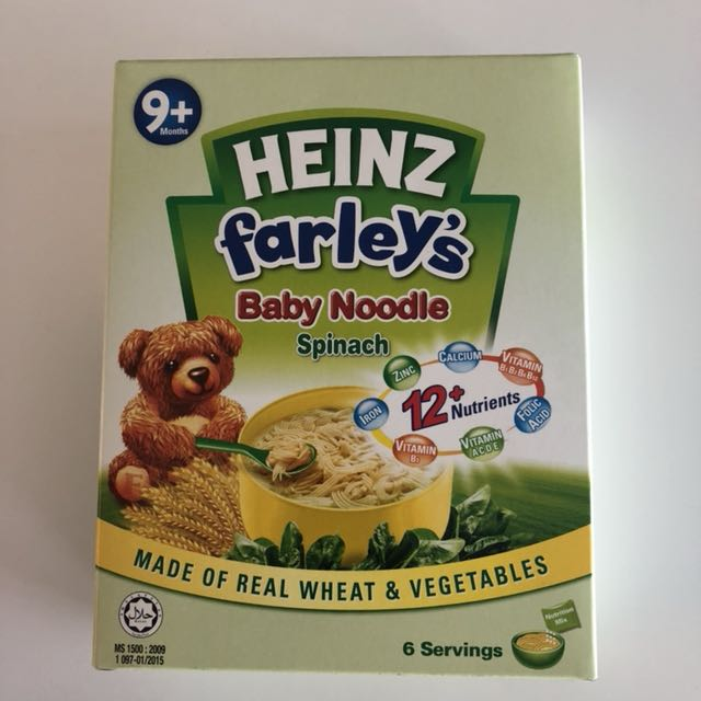 Heinz Farley's Baby Noodle - Spinach (9+ Months) 252G