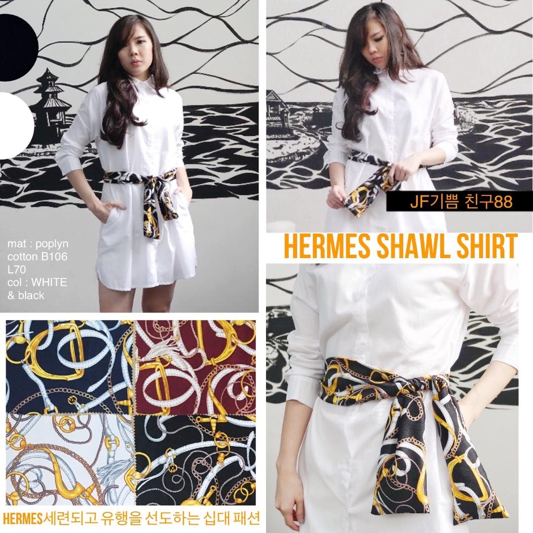 HERMES SHAWL SHIRT