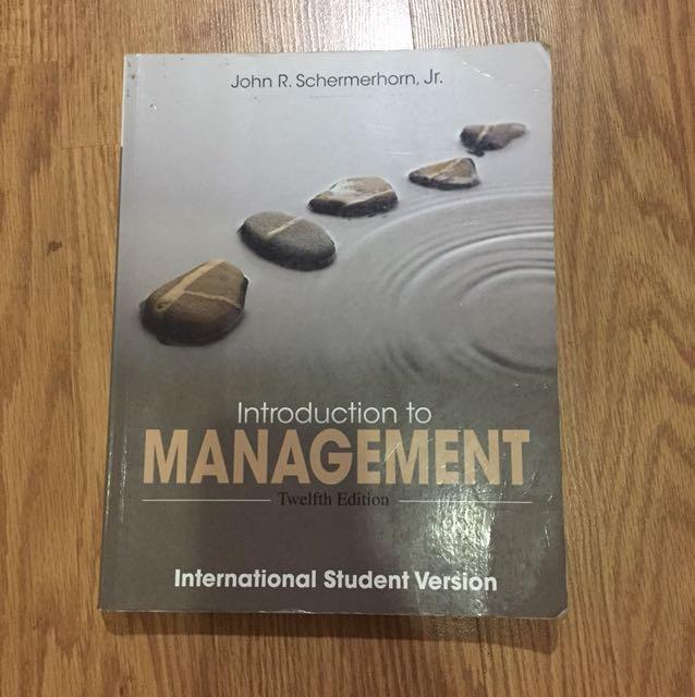 Introduction to management 12 (twelfth) edition WILEY John R. schermerhorn, Jr