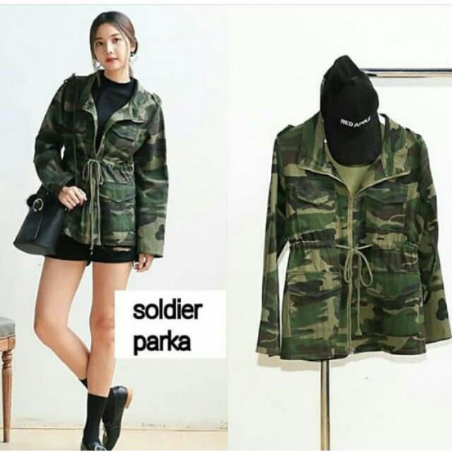 Jaket parka army cewek b34cb2e492