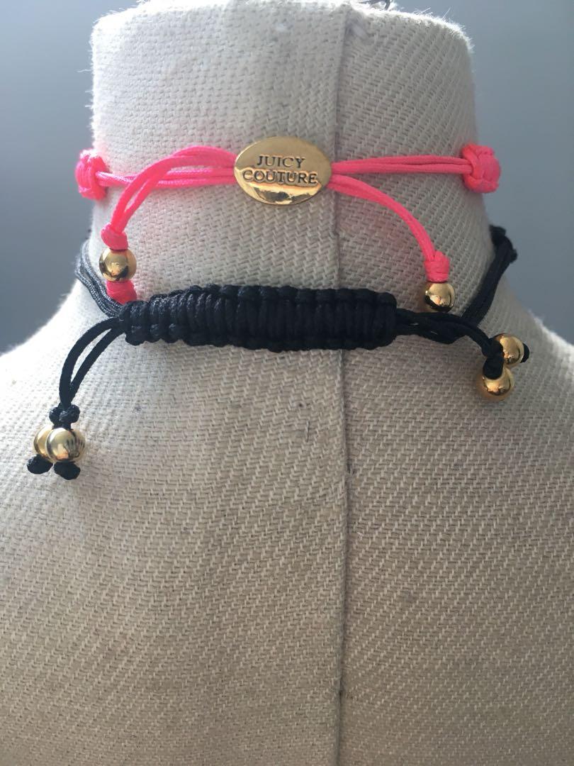 Juicy Couture friendship bracelets