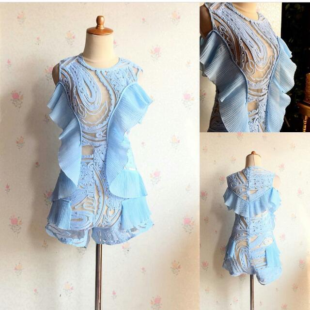Jumpsuit Unique Embroidered (Semi Seperti Bordir)