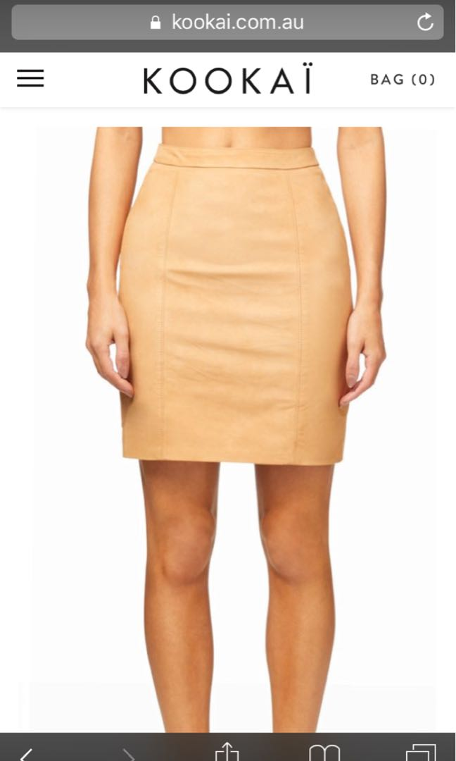 Kookai valley mini suede skirt