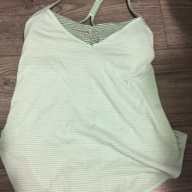 Lululemon Green Stripped Tank