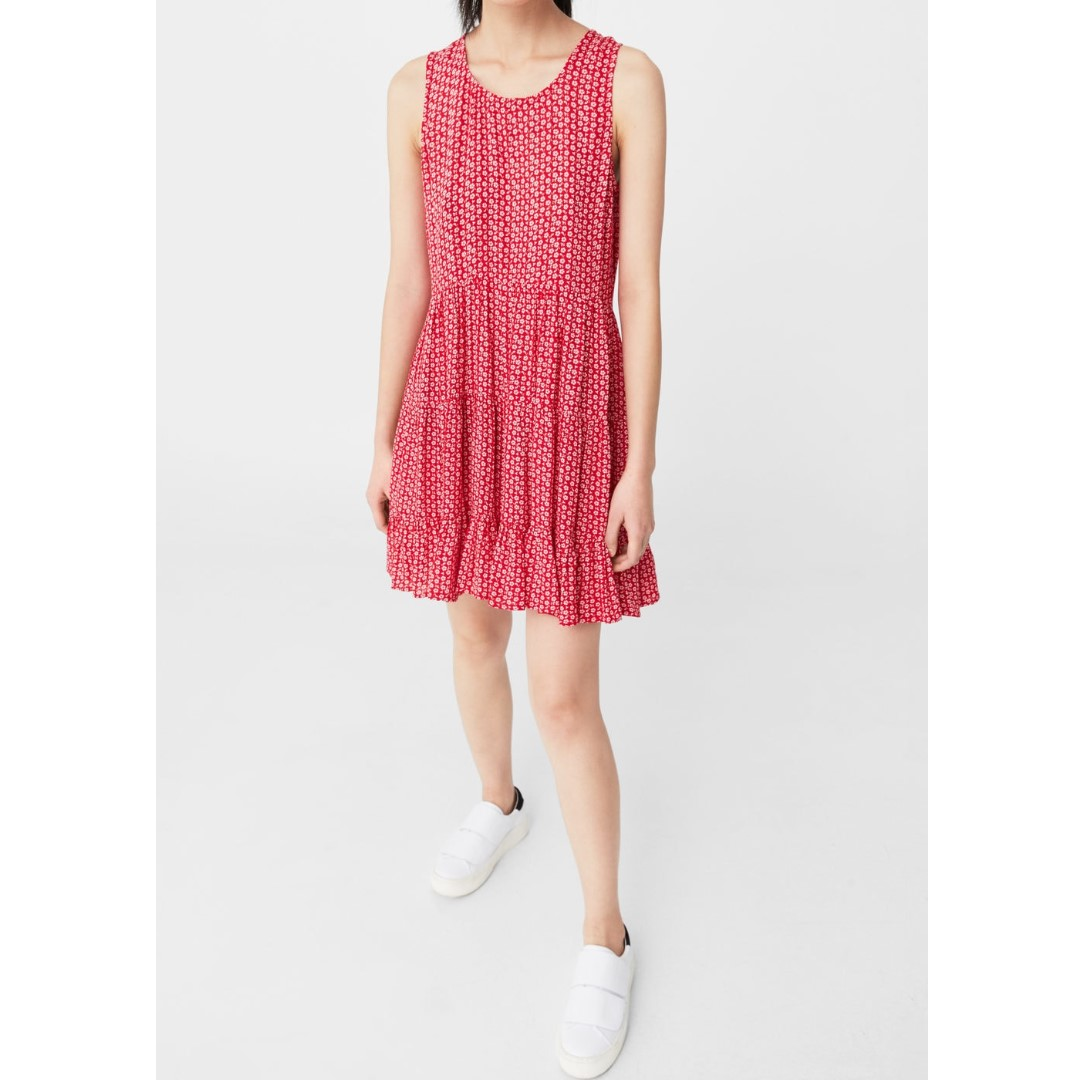 Mango Red Flowy Dress