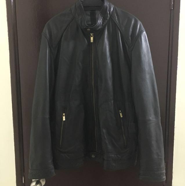 Massimo Dutti Leather Jacket (Size:M)