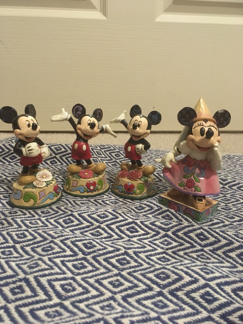 Mickey and Minnie collectible figures