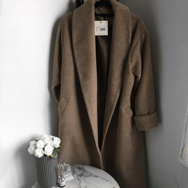 Missguided Long Tan Coat
