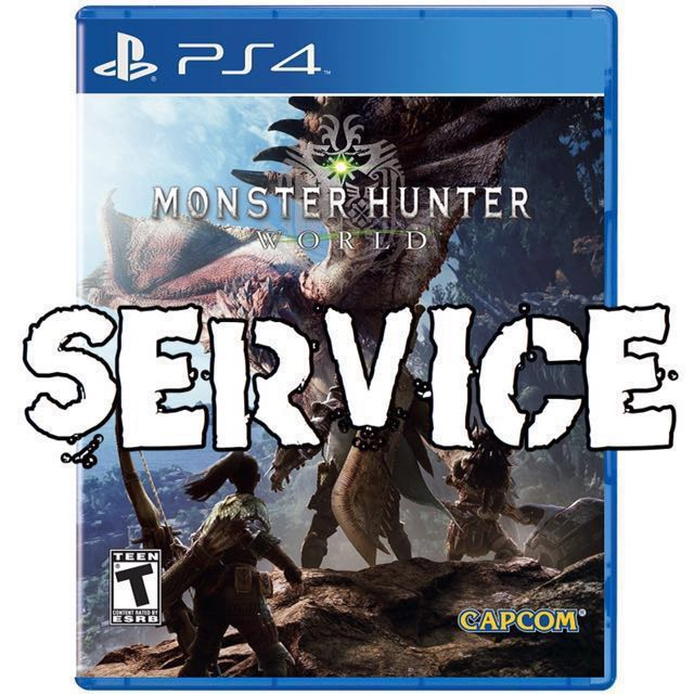 MONSTER HUNTER WORLD SERVICE MHW, Toys & Games, Video Gaming