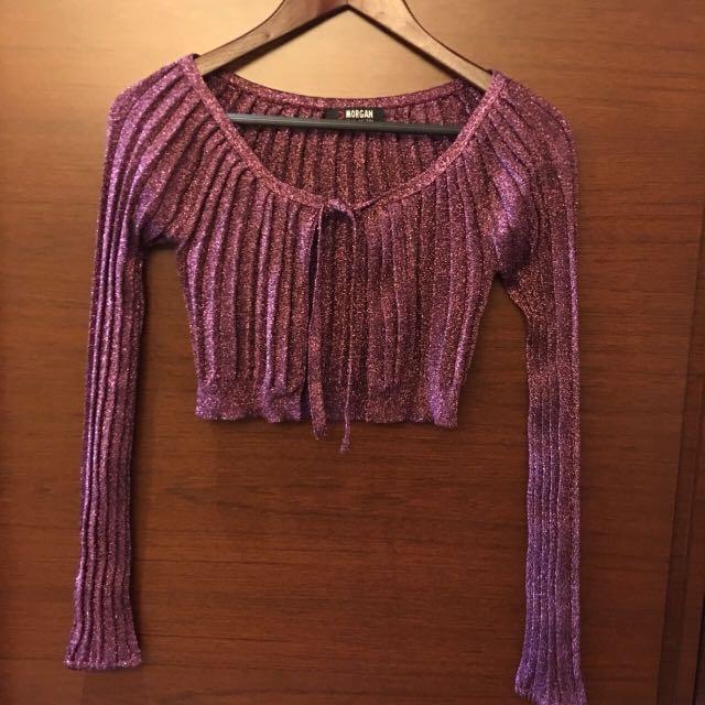 Morgan 紫紅洋裝罩衫