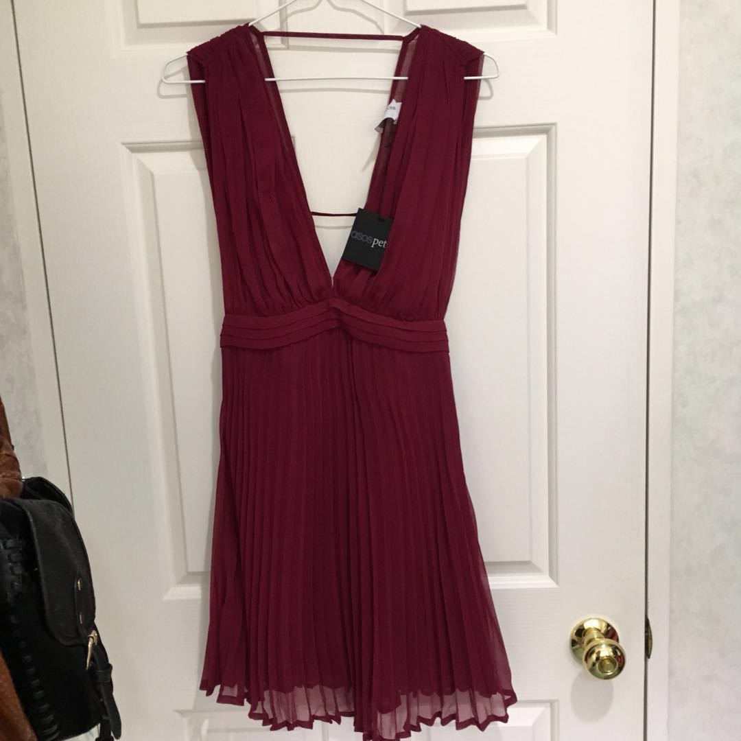 NEW ASOS petite maroon dress