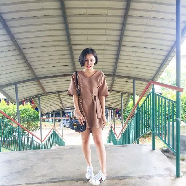 (NEW) Limited Edition Khaki Lady Dress #Fesyen50