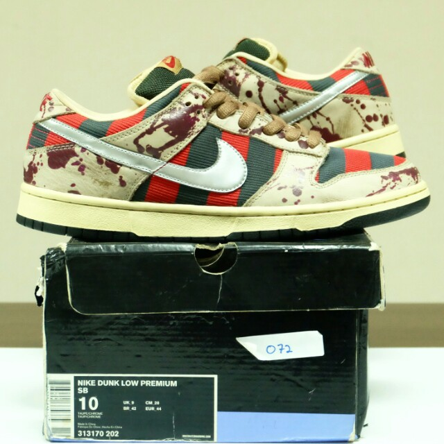 huge discount 56032 4851d clearance nike dunk low pro sb freddy krueger ae313 1d1c1