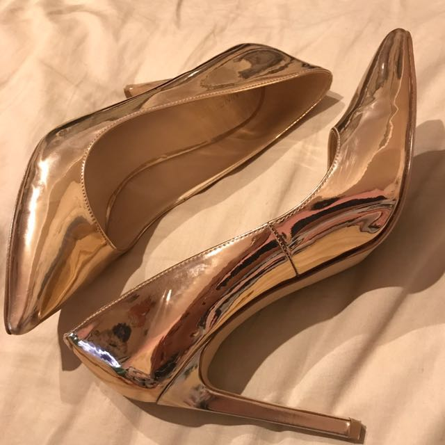 Nine West rose gold Tatiana heels size 8