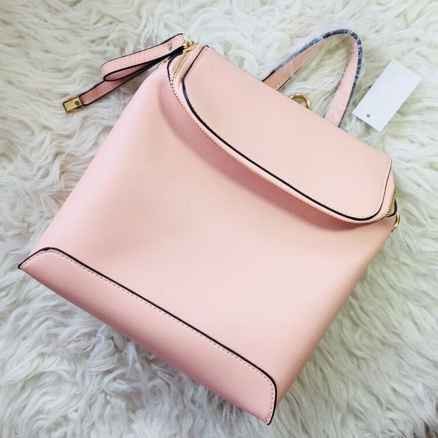 Nude Backpack and Sling bag