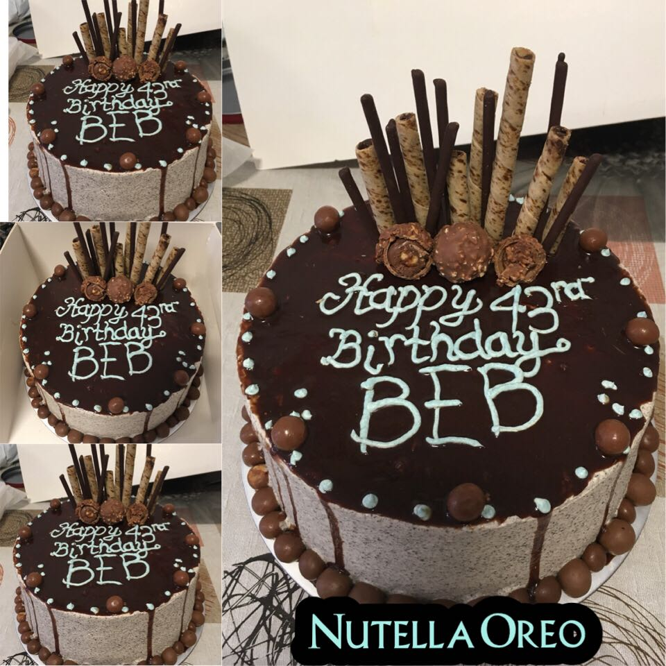 Nutella Oreo Cake Food Drinks Baked Goods on Carousell