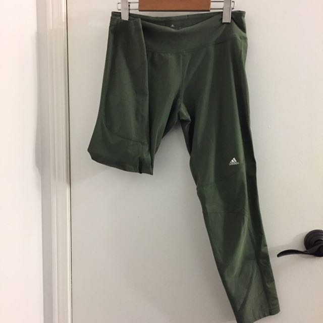 Olive Adidas Tights
