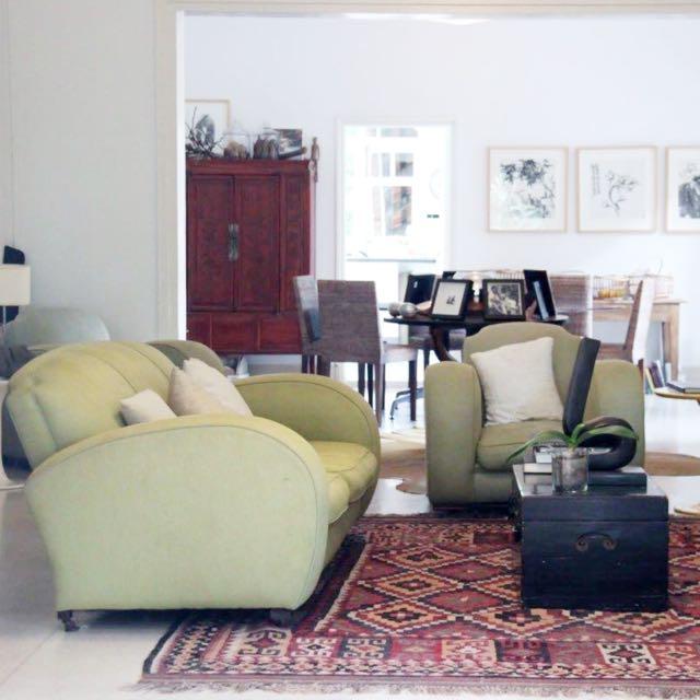 Original Art Deco 1930s Club Sofa