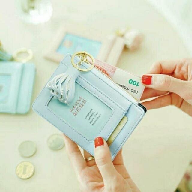 (全新現貨可pc)全新卡包韓國簡約超薄可愛個性多卡位迷你證件包零錢包