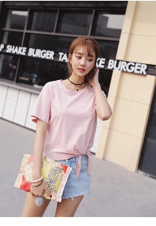 Pink cotton style top