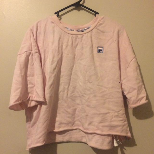 Pink fila top