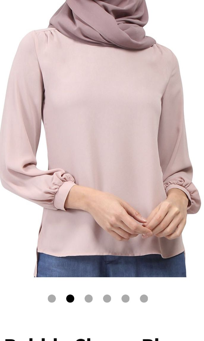 a9197bbdc1e79 POPLOOK Bellona Bubble Sleeve Blouse