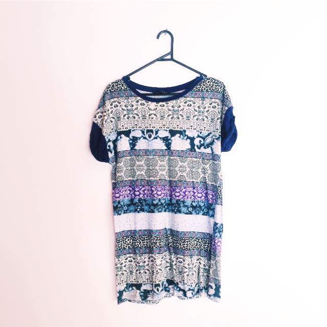 Printed Tshirt Dress