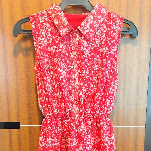 Red Drape Dress