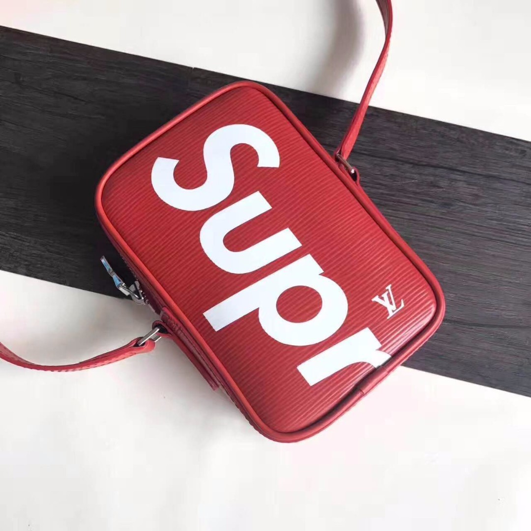 Red Supreme x LV Danube ppm shoulder sling purse pouch (small size)