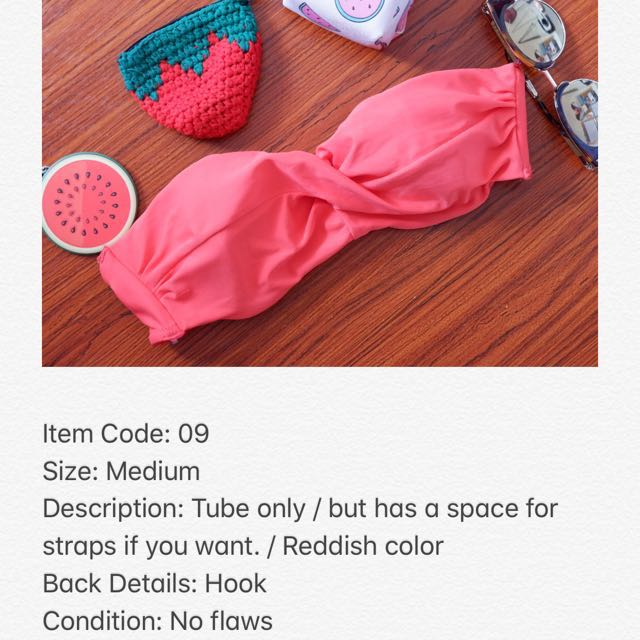 Reddish Bikini Top