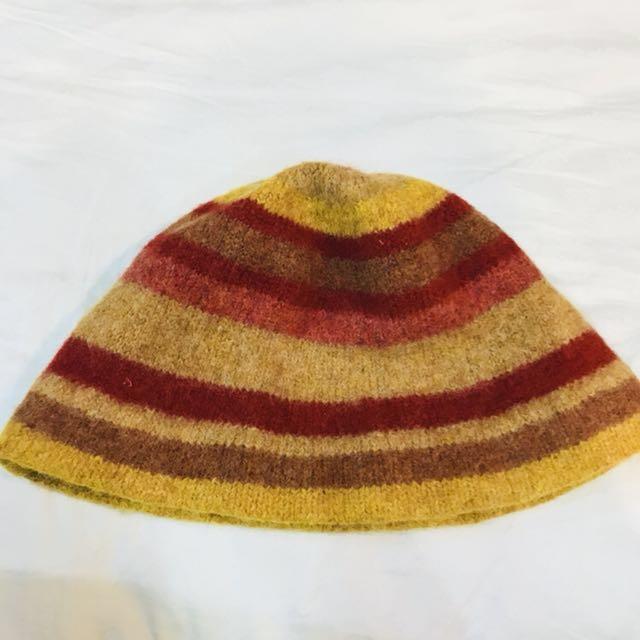 日本購入Robert Mackie羅伯特馬凱爾蘇格蘭製編織毛帽純羊毛古著風格原價5000多日幣ca4la