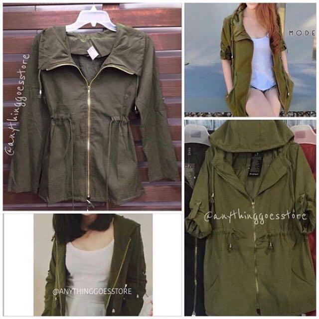SALE!!! Green Parka Jacket (2pcs.)