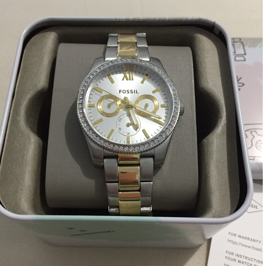 FOSSIL SCARLETTE MULTIFUNCTION TWO-TONE STAINLESS STEEL WATCH